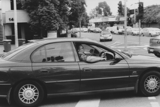 Adelaide-Street-Photography---Car-At-Junction---Arm-Out-The-Window